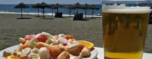 cerveza_coctel_gambas_chiringuito_rincon_de_la_victoria